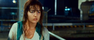 "One of many Americans in Hong Kong, Camilla Belle ""reacts"" to the sight of a familiar face on the street."