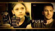 Dakota Fanning and Chris Evans briefly share the DVD's main menu scroll until PUSH!