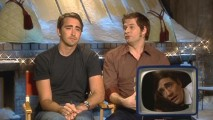 Lee Pace and creator Bryan Fuller talk about what Lee's waking-up-with-drool-acting as the scene plays in the corner.