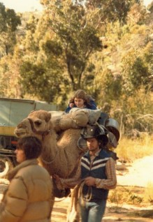 """I learned to ride a camel for Episode 3 (""Love Before a Fall""). What an experience!"""