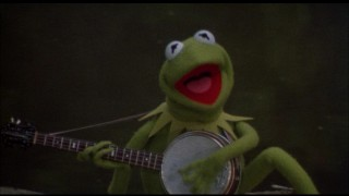 "In the swamp, Kermit ponders questions like ""Why are there so many songs about rainbows and what's on the other side?"""
