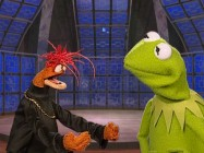 "Kermit puts up with questioning from the King Prawn who wasn't around for ""The Muppet Movie"" or anything else until 1996."