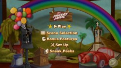 A still from the animated main menu shows Gonzo in flight.