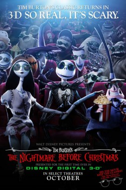 "The one-sheet poster for ""The Nightmare Before Christmas"" in Disney Digital 3-D"