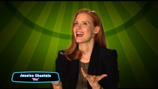 "2011 breakout actress Jessica Chastain discusses voicing Italian circus jaguar Gia in ""Big Top Cast."""