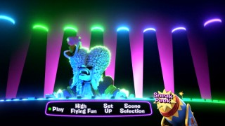 The chimpanzees' King of Versailles plays the keyboard on Madagascar 3's funky main menu.