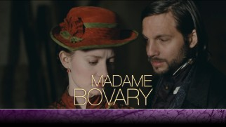 The Marquis d'Andervilliers (Logan Marshall-Green) stands seductively to the side of Emma (Mia Wasikowska) on the Madame Bovary Blu-ray menu.