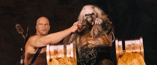 Chief antagonist Immortan Joe (Hugh Keays-Byrne) is a frightening old man in charge of the thirsty masses.