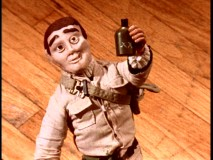 Nissan's memorable stop-motion toy commercial is parodied with a reckless drunk toy driver.