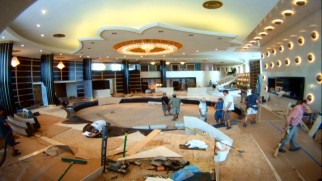 "Time-lapse photography shows the Miramar Playa's impressive lobby being constructed in ""Building an Empire."""