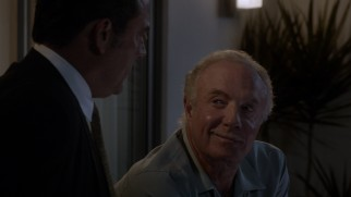 Ike takes the conversation in a direction that Sy Berman (James Caan) doesn't like and didn't foresee.