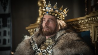 Sharlto Copley looks the part of King Stefan, but is wasted on this thankless villain role.