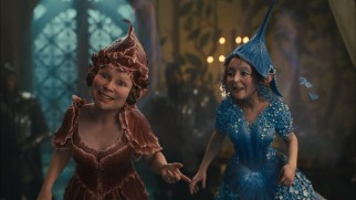 When they're in their natural small scale, pixies Knotgrass (Imelda Staunton) and Flittle (Lesley Manville) are creepy-looking.