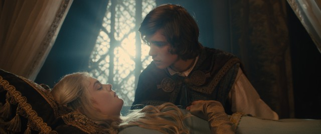 Can Prince Phillip (Brenton Thwaites) break the curse on Sleeping Beauty (Elle Fanning) with true love's kiss?
