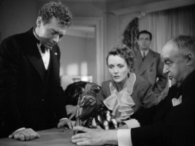 "All eyes are fixed on the Maltese falcon in ""The Maltese Falcon."""