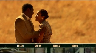A happier time from early in the romance of Mandela and Winnie features in the DVD's main menu montage.