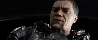 When General Zod (Michael Shannon) resurfaces his, enough time has passed to turn his goatee partly white.