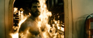 A little bit of fire doesn't faze Joe the greenhorn, a.k.a. a bearded Clark Kent (Henry Cavill).