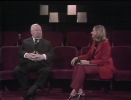 "Alfred Hitchcock discusses his films with Pia Lindstrom, the daughter of Ingrid Bergman, in the first half of the excellent 1972 television interview ""The Illustrated Hitchcock."""
