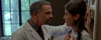 Dr. Dominguez' (Tony Plana) notion of professional decorum is making sure the patient is unconscious before putting unwanted moves on nurses like the saintly Solena (Carla Ortiz).
