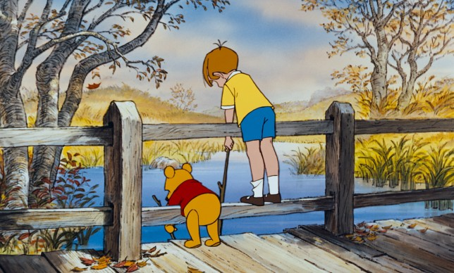 "Winnie the Pooh and Christopher Robin come to the enchanted place and say goodbye in the touching coda created for ""The Many Adventures of Winnie the Pooh."""