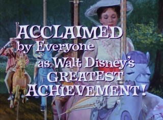 "Trailers from over the years celebrate ""Mary Poppins"" as Walt Disney's greatest achievement."