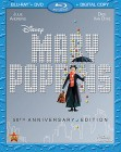 Mary Poppins: 50th Anniversary Edition Blu-ray + DVD + Digital Copy combo pack cover art -- click for larger view and to preorder.