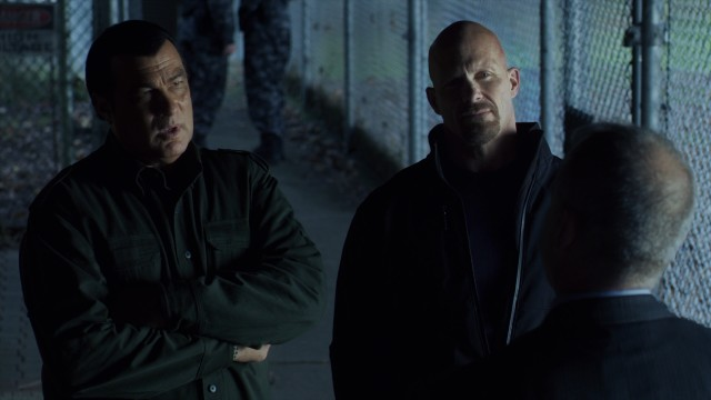 "Steven Seagal and Steve Austin join forces in ""Maximum Conviction."""