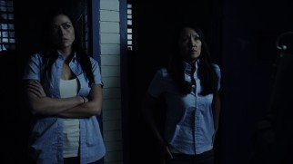 Aliyah O'Brien and Steph Song play mysterious female inmates at the center of the film's targeted extraction plot.