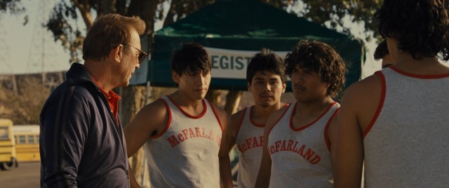 """McFarland, USA"" tells the story of Jim White (Kevin Costner) and the cross country team of Mexican-Americans he coached to the 1987 California state title."