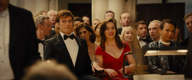 Cleaned up and restyled, Will (Sam Claflin) is suddenly fit for accompanying Lou (Emilia Clarke) to classical music concerts and the like.