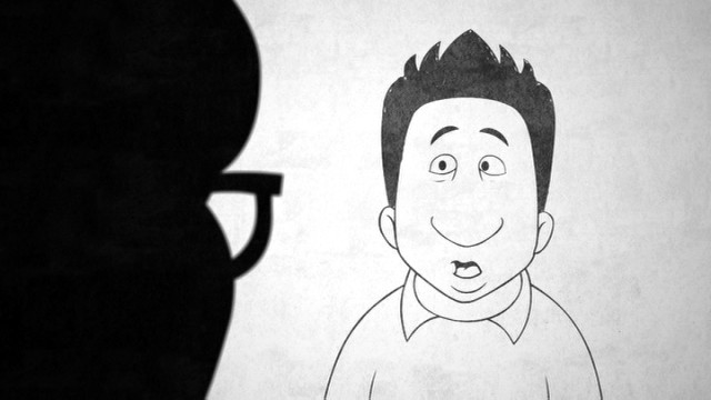 """Meet the Patels"" occasionally presents Ravi Patel as a large-nosed cartoon character."