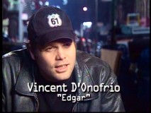 Out of his hideous character make-up, Vincent D'Onofrio looks and sounds normal in the original featurette.