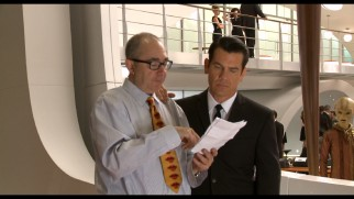 "A slimmed-down Barry Sonnenfeld directs Josh Brolin in ""The Making of MIB 3."""