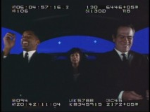 Will Smith, Rosario Dawson, and Tommy Lee Jones all have trouble not laughing in a take from the gag reel.