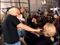 "Make-up legend Rick Baker touches up one of his creations in ""Rick Baker: Alien Maker."