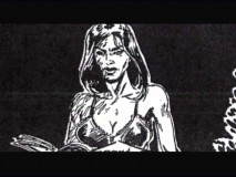 Serleena's landing in Central Park is shown in storyboard and animatic form.