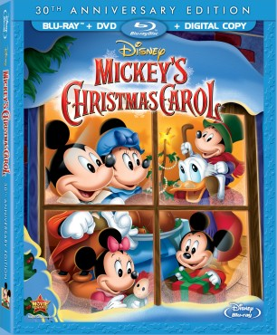 Mickey's Christmas Carol: 30th Anniversary Edition Blu-ray + DVD + Digital Copy combo pack cover art -- click to buy from Amazon.com