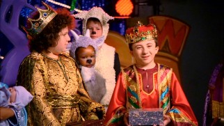 Brick (Atticus Shaffer) readily slips out of character as a Wise Man in a Christmas play.