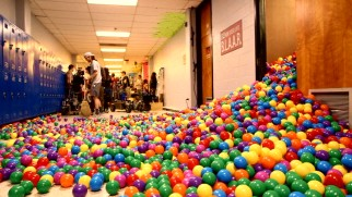 """Yolo: Operation Rafe"" shows all the colorful ball pit balls this movie made use of."