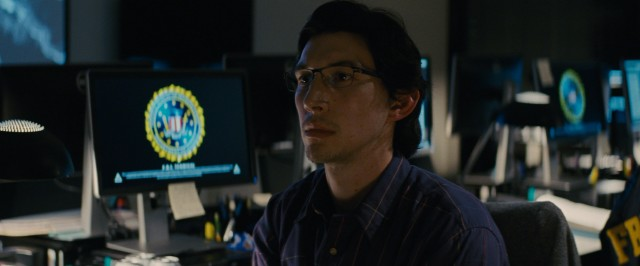 Adam Driver plays Paul Sevier, a nerdy FBI analyst who is on the trail of our protagonist party.