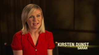 Kirsten Dunst discusses her character Sarah Tomlin, Alton's mother who has been excommunicated from the Ranch.