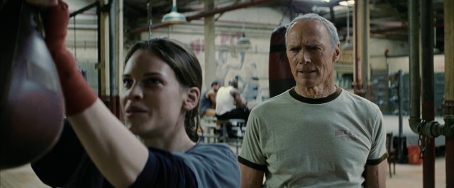 "Frankie Dunn (Clint Eastwood) is dead set against training Maggie Fitzgerald in ""Million Dollar Baby."""