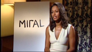 Did you think this was Freida Pinto? Think again. It's Rula Jebreal, the author and screenwriter on whom Miral is based.