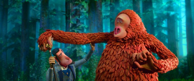 "In Laika's ""Missing Link"", monster hunter Sir Lionel Frost (voiced by Hugh Jackman) discovers a Sasquatch (voiced by Zach Galifianakis) in the US Pacific Northwest."
