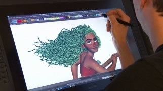"Moana's hair gets animated in the last of four ""The Elements of..."" shorts."