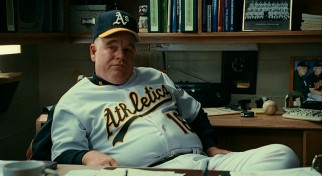 "Philip Seymour Hoffman, who won an Oscar for director Bennett Miller's first film ""Capote"", plays the supporting role of A's manager Art Howe here."
