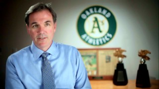 "The real Billy Beane discusses his experiences in ""Re-Inventing the Game."""