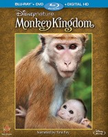 Disneynature's Monkey Kingdom: Blu-ray + DVD + Digital HD combo pack cover art -- click to buy from Amazon.com