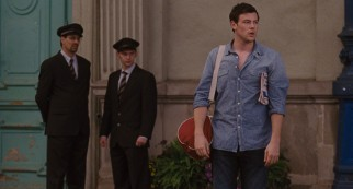 "Owen (""Glee""'s Cory Monteith), Emma's sweetheart from Texas, comes looking for her in Paris."